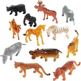 Fun Central Plastic Toy Safari Animals(Multicolor)
