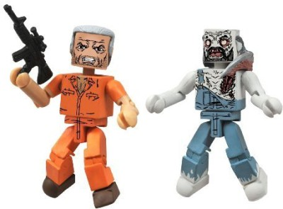 Diamond Select S Walking Dead Minimates Series 3 Hershel And Farmer Zombie