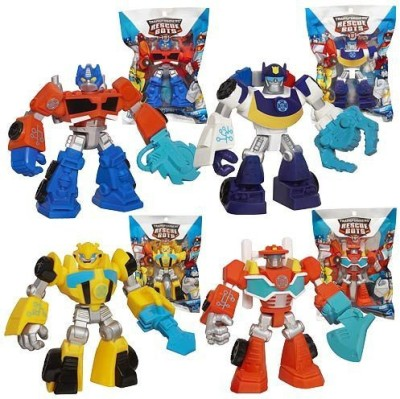 Playskool Heroes Transformers Rescue Bots Figures, Set of 4: Optimus Prim