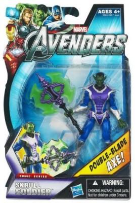 Hasbro Marvel Avengers Comic 4 Inch Skrull Soldier Double Blade Axe