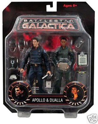 Diamond Select Toys Battlestar Galactica Apollo and Dualla Action Figure Two-Pack