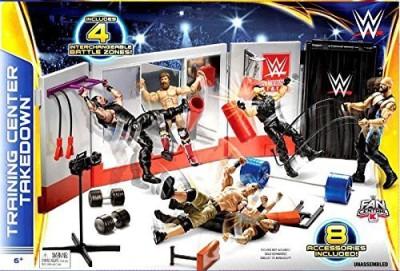 WWE Wrestling Fan Central Playset Training Center Takedown