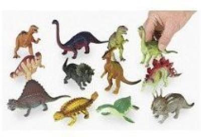 FE Dozen Large Plastic Dinosaur