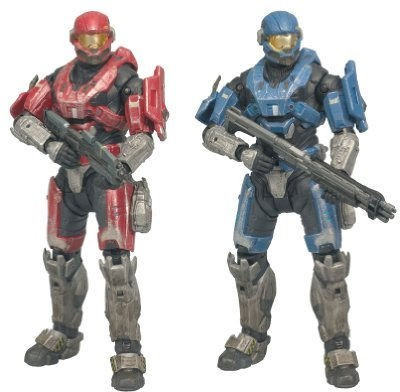 Mcfarlane Toys Halo Reach Series 1 Spartan Hazop Custom (Male) 2 Pack