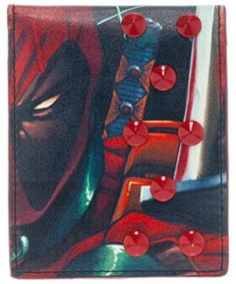 Animewild Marvel Deadpool Bifold Wallet With Studs
