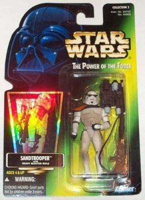 Kenner 1996 Potf Sandtrooper Green Card W/ Hologram Coll 3 Moc
