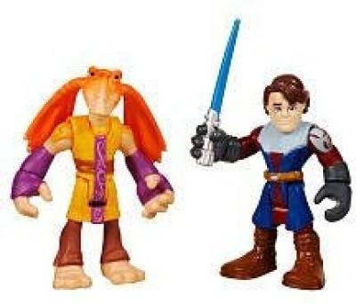 Hasbro Playskool Heroes, Star Wars, Jedi Force Figures, Anakin Skywalker and Jar Jar Binks
