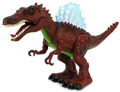 Velocity Toys Century Spinosaurus Battery Operated Toy Dinosaur Figure w/ Realistic Movement, Lights and Sounds (Colors May Vary)(Multicolor)
