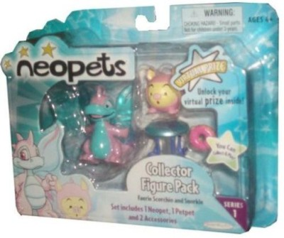 Neopets Collector Pack Series 1 Faerie Scorchio And Snorkle