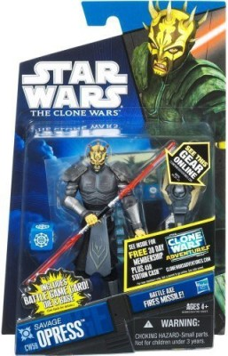 Hasbro Star Wars 2011 Clone Wars Animated Action Figure CW No. 59 Savage Opress Armored