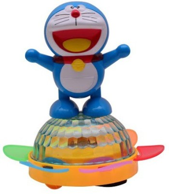 RREnterprizes All New Dancing Doraemon with 4D Light Battery Operated Toy for Kids(Blue, White)