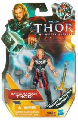 Thor The Movie Thor The Mighty Avenger 01 Battle Hammer Thor 375 Inch