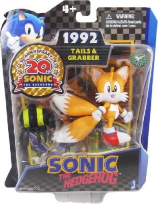 Sonic The Hedgehog 20th Anniversary 3.5 Inch Action Figure 1992 Tails Grabber