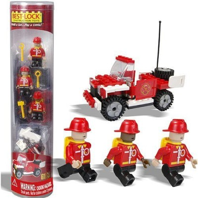 Best-Lock Best Lock Firefighter And Truck Tube 72 Pieces