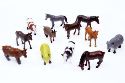 A2B 12 Set Farm Animal Plastic Toys For Kids