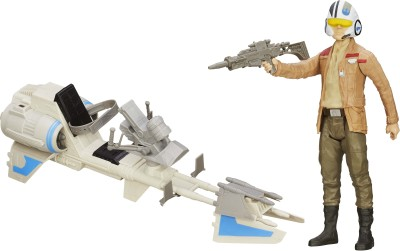 Funskool Star Wars E7 Hero Series Figure & Vehicle - Finn & Speeder Bike(Multicolor)