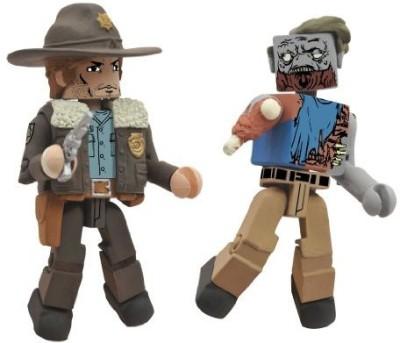 Diamond Select S Walking Dead Minimates Series 1 Rick And Roamer