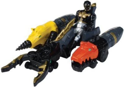 Power Rangers Megaforce Land Brothers Zord Vehicle And Black Ranger