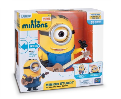 Thinkway Toys Minion Stuart Interacts With Guitar