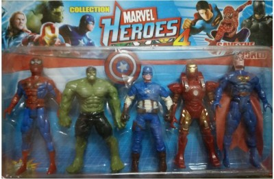 9Perfect Marvel Heroes 4 Collection Set of 5