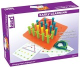 Lauri Toys Stringing Pegs and Pegboard S...