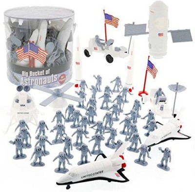 SCS Direct Space and Astronaut Toy Action Figures - Big Bucket of Astronauts (Huge 60 pc Set)