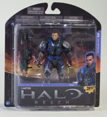 Halo Reach Series 5 6 Inch Scale Carter - Unhelmeted With Spartan Laser & Frag Grenade Action Figure