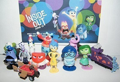 INsideOUT Disney Inside Out Movie Figure Set Toy Playset of 12 with Joy, Fear, Anger, Disgust