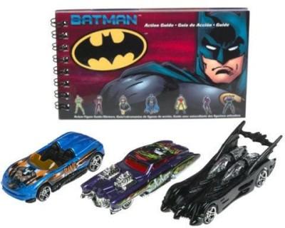 Hot Wheels Batman 3 Pack Batmobile, Joker Evil Twin, Bane Mx48