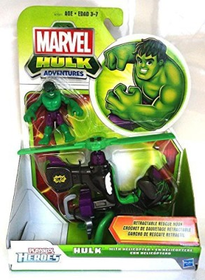 Super Hero Adventures Marvel Playskool Vehicle Hulk With Helicopter