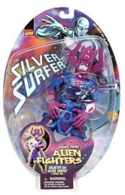 Marvel Alien Fighters Galactus And Silver Surfer In Cosmic Orb