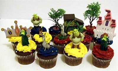 Shrek 14 Piece Birthday Cupcake Topper Set Featuring Princess