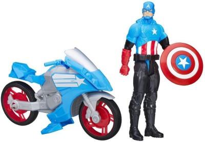 Funskool Marvel Titan Hero Series Captain America with Battle Cycle