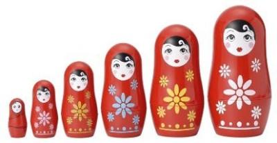 Matryoshka Madness Plastic Astronaut Figurines (1 Dozen)21/2