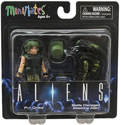 Diamond Select Aliens Minimates Pvt Drake & Battle Damaged Attacking