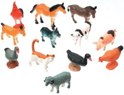 Darice 102908 Creatures Decorative Farm Animals12Pack