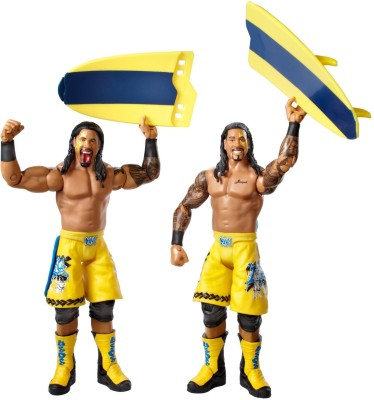 WWE WWE Series #28 Jimmy Uso and Jey Uso Figure with Surfboard (2-Pack)