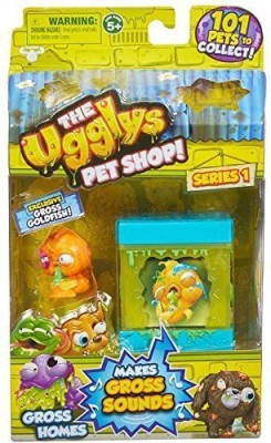 Moose Toys The Ugglys Pet Shop!, Series 1 Gross Homes, Rank Tank with Exclusive Goldfish