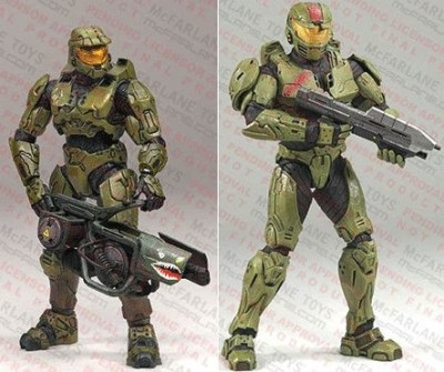 Halo 2009 McFarlane Toys Deluxe Action Figure Boxed Set Red Team Leader & Master Chief 2Pack