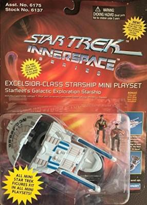 Playmates Star Trek Excelsior Class Starship Mini Playset W/ Riker