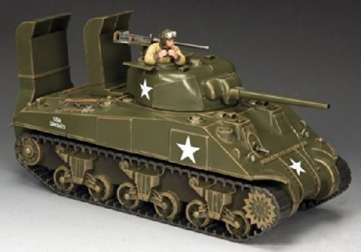 King & Country Dday Sherman Tank Ww2 Normandy Invasion Us Army Knc001
