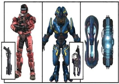 McFarlane Toys Halo Reach Series 6 Invasion Deluxe Box Set