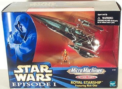 Micro Machines Star Wars Fleet Royal Starship Silver