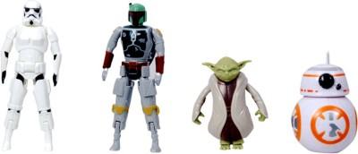 Montez Egg Force Star Wars Super Hero Action Figure Set(Storm Trooper, Boba Fett, Yoda & BB-81)