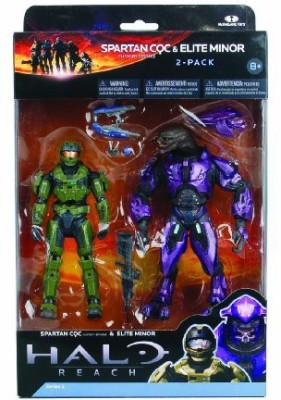Mcfarlane Toys Halo Reach Series 2 - Spartan vs Elite 2 Pack Sage/Sage and Violet/Violet