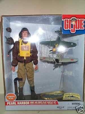 G I Joe Pearl Harbor Army Air Corps Pilot Display Set