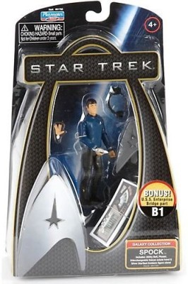 Star Trek Galaxy Collection Spock Action Figure with Extra Hand and Bridge Part