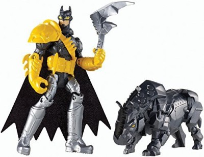 Mattel Batman Unlimited: Batman and Axe Rhino Action Figures