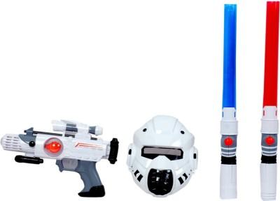 Montez Space Guardian Set - Mask , Light sticks And Musical Gun