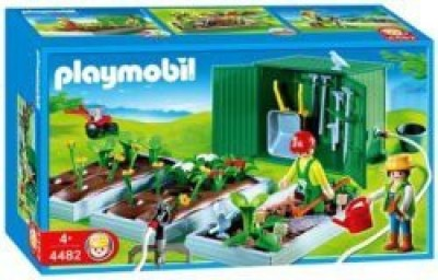 PLAYMOBIL Plant Beds With Shed(Multicolor)